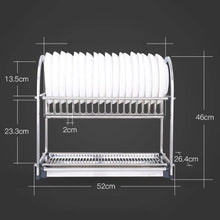 Load image into Gallery viewer, Home lpz stainless steel racks kitchen supplies tableware storage box storage rack kitchen sink drain dish rack rack lpzv size l52cmw26 4cmh46cm