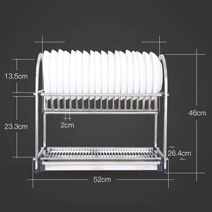 Home lpz stainless steel racks kitchen supplies tableware storage box storage rack kitchen sink drain dish rack rack lpzv size l52cmw26 4cmh46cm