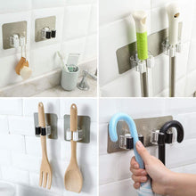 Load image into Gallery viewer, Buy yotako broom mop holder 8 pcs mop and broom hanger self adhesive wall mount storage rack storage and organization for your home kitchen and wardrobe