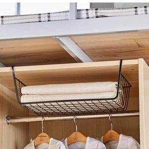 Try esupport under shelf storage basket hanging under cabinet wire basket organizer rack dormitory bedside corner shelves for kitchen pantry desk bookshelf cupboard