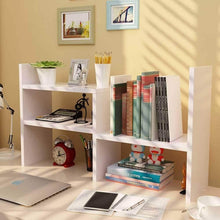 Load image into Gallery viewer, Shop desktop organizer office storage adjustable display bookshelf double shelf desk supplies for office kitchen multipurpose rack