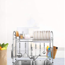 Load image into Gallery viewer, Products kitchen racks dish rack stainless steel drain rack sink dish rack storage rack put dish rack chopsticks rack knife rack cutting board chopsticks tube