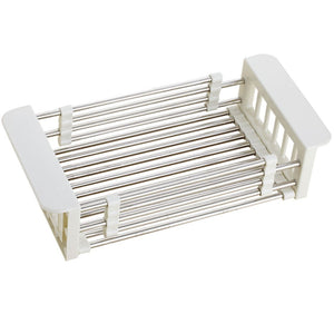 Order now shelf liners kitchen shelf stainless steel kitchen sink shelf drain rack under drain sink drain rack kitchen utensil storage organization color silver size 57189 5cm