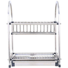Load image into Gallery viewer, Heavy duty lpz stainless steel racks kitchen supplies tableware storage box storage rack kitchen sink drain dish rack rack lpzv size l52cmw26 4cmh46cm