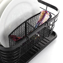 Load image into Gallery viewer, Cheap asdomo dish drying rack stainless steel dishes drainer with detachable drainboard rustproof organizer utensils holder for kitchen counter