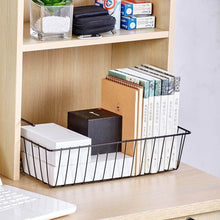 Load image into Gallery viewer, Amazon esupport under shelf storage basket hanging under cabinet wire basket organizer rack dormitory bedside corner shelves for kitchen pantry desk bookshelf cupboard