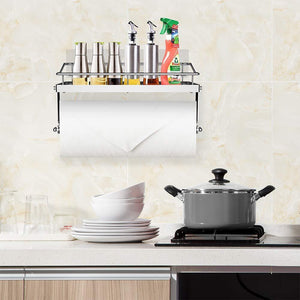 Results odesign 2 in 1 paper towel holder with shelf for kitchen shower bathroom sus 304 stainless steel no drilling