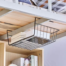 Load image into Gallery viewer, Top rated esupport under shelf storage basket hanging under cabinet wire basket organizer rack dormitory bedside corner shelves for kitchen pantry desk bookshelf cupboard