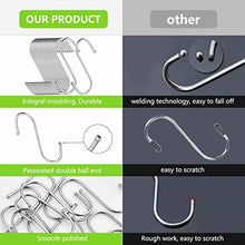 Load image into Gallery viewer, Top rated 24 pack s shaped hanging hooks hanger hooks 3 5 hanging plant pan cup metal s hooks hanger heavy duty stainless steel s hooks for kitchen bathroom bedroom and office hanging utensils towels