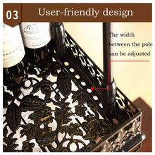 Load image into Gallery viewer, Best warm van industrial vintage metal bar wine glass hanging rack retro upside down stemware goblet wine glass holder tableware bottle floating shelf for home kitchen bronze 47 2l