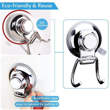 Load image into Gallery viewer, Get bathroom hook towel hooks bathroom hook with suction cup hook holder removable shower kitchen hooks hanger stainless steel heavy duty wall hooks for towel robe home kitchen bathroom 2 pack