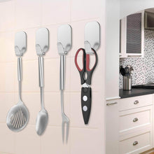 Load image into Gallery viewer, Order now adhesive hooks 16 pack 3m self adhesive wall hooks for key robe coat towel heavy duty stainless steel wall mount hooks for kitchen bathroom toilet