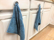 Load image into Gallery viewer, Save keepitnice 2 pack kitchen towel holder push in grip tea towel hooks self adhesive easy installation premium chrome finish strong hold easy removal