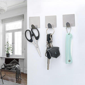 Exclusive fotyrig adhesive hooks wall hooks hangers waterproof stainless steel stick on hooks for hanging robe towel coat kitchen utensils keys bags home kitchen bathroom 8 packs