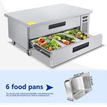Load image into Gallery viewer, Storage commercial 2 drawer refrigerated chef base kitma 60 inches stainless steel chef base work table refrigerator kitchen equipment stand 33 f 38 f