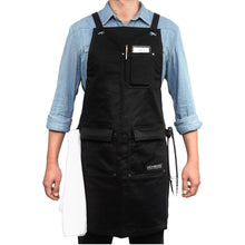 Load image into Gallery viewer, Select nice gidabrand professional grade chef kitchen apron with double towel loop 10 oz cotton for cooking bbq and grill men women design with 3 pockets quick release buckle and adjustable strap m to xxl