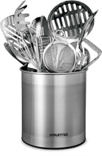 Load image into Gallery viewer, Try gourmia gch9345 rotating kitchen utensil holder spinning stainless steel organizer to store cooking and serving tools dishwasher safe non slip bottom use as caddy