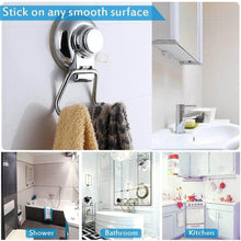Load image into Gallery viewer, Explore bathroom hook towel hooks bathroom hook with suction cup hook holder removable shower kitchen hooks hanger stainless steel heavy duty wall hooks for towel robe home kitchen bathroom 2 pack