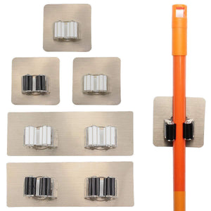 Best seller  yotako broom mop holder 8 pcs mop and broom hanger self adhesive wall mount storage rack storage and organization for your home kitchen and wardrobe