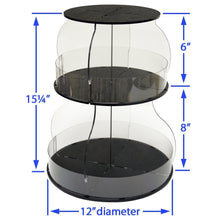 Load image into Gallery viewer, Amazon kitchen organizer that spins for easy access only 12 of counter space all your used daily items at your fingertips bonus clear sides keep it in proudly made in the usa