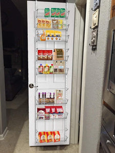 On amazon home complete over the door organizer space saving hanging storage shelves for kitchen pantry closet for spices jars cleaning products and more