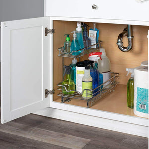 Discover slide out cabinet organizer 11w x 18d x 14 1 2h requires at least 12 cabinet opening kitchen cabinet pull out two tier roll out sliding shelves storage organizer for extra storage