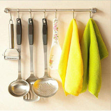 Load image into Gallery viewer, Products pan pot hanger hooks rack ulifestar wall mout stainless steel kitchen utensil organizer storage lid holder rest 15rail rod with 7 hanging hooks