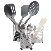 Load image into Gallery viewer, Latest bignay stainless steel kitchen utensil holder caddy holder brushed stainless steel cookware cutlery utensil holder pack of 3