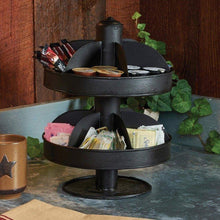 Load image into Gallery viewer, Purchase park designs rustic 2 tier 13 lazy susan vintage kitchen spinning organizer