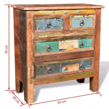 Load image into Gallery viewer, Amazon festnight buffet sideboard with 4 storage drawers reclaimed wood storage cabinet handmade for living room kitchen bedroom home furniture 26 x 12 x 28