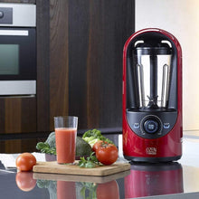 Load image into Gallery viewer, Amazon pado haf hb310 red ozen 310 countertop kitchen blender for nutrient rich blending plus extra vacuum storage container red