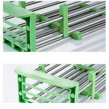Load image into Gallery viewer, Related yan junau kitchen racks stainless steel retractable sink drain rack dish rack kitchen supplies color green
