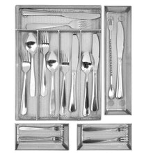 Load image into Gallery viewer, Best kitchen silverware drawer organizer 5 3 separate compartment with anti slip mats mesh kitchen cutlery trays silverware storage kitchen utensil flatware tray