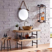 Load image into Gallery viewer, Selection warm van industrial pipe wood wall mount shelves retro clapboard tool shelf bathroom kitchen accessories storage cabinet towel rack