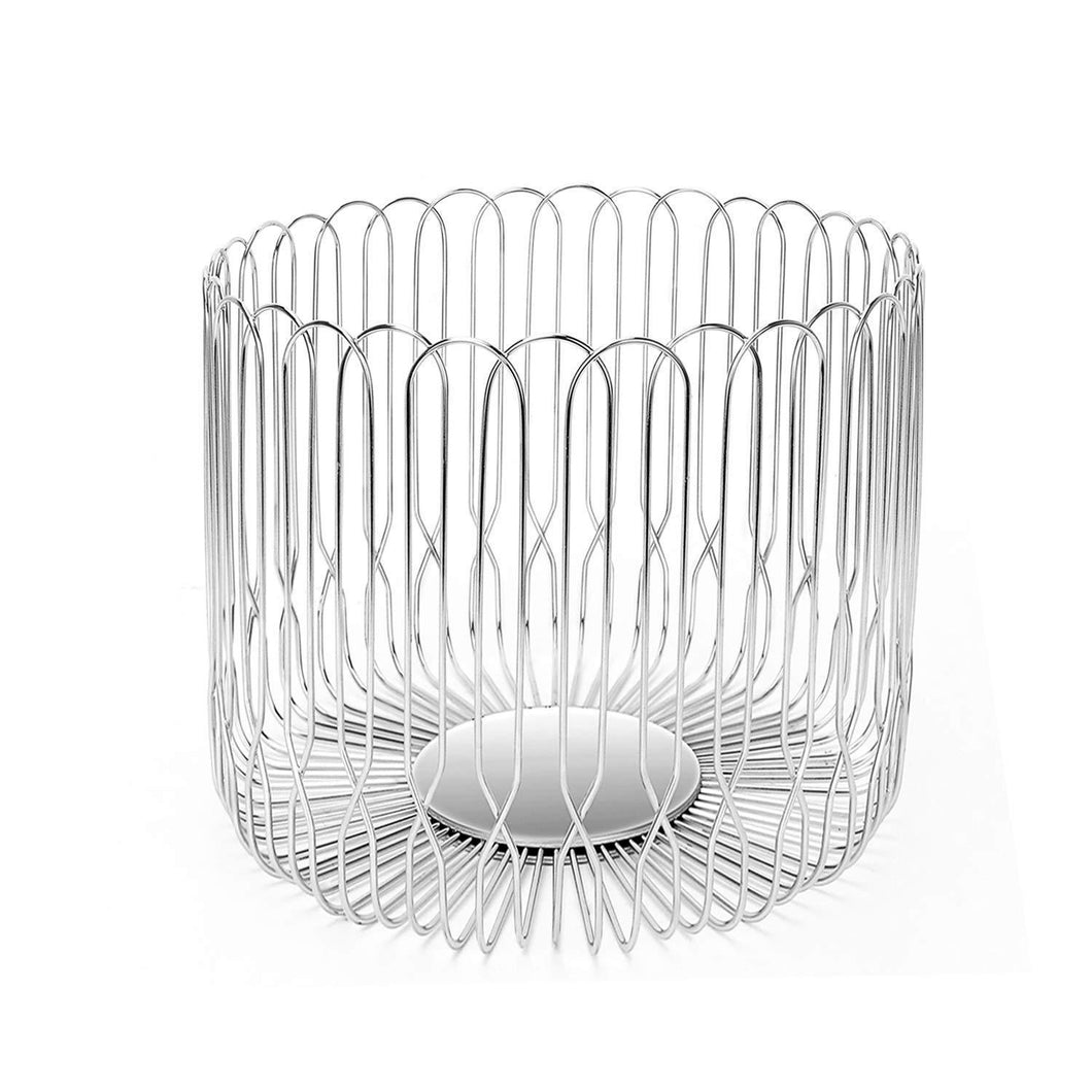 Kitchen fruit basket bowl stainless steel large wire fruit storage basket with bread for kitchen counter lanejoy