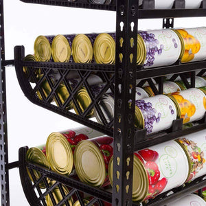 Buy now shelf reliance frs can storage customizable can lengths first in first out rotation kitchen organizer canned goods pantry size cans 75 x 36 x 24 blackpantry unit