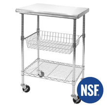 Load image into Gallery viewer, Online shopping seville classics stainless steel nsf certified professional kitchen work table cart 24 w x 20 d x 36 h