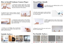 Load image into Gallery viewer, Home yenhome 24 x 393 glossy black self adhesive vinyl contact paper for cabinets covering kitchen drawer and shelf liner for wardrobe furniture wall decor peel and stick wallpaper stickers