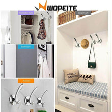 Load image into Gallery viewer, Shop wopeite adhesive hook for towel and robe stainless steel no drills for bathroom kitchen organizer towel hooks on door