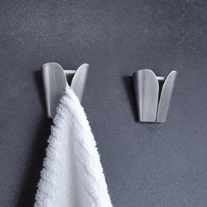 Products kes kitchen towel hooks self adhesive dish towel holder hand towel hook rack hanger ring rustproof stainless steel brushed finish 2 pack ah7201 2 p2
