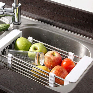 Save on european stainless steel sink drain rack storage rack kitchen sink put dish rack tableware dish rack shelf kitchen storage