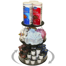 Load image into Gallery viewer, Best kitchen organizer that spins for easy access only 12 of counter space all your used daily items at your fingertips bonus clear sides keep it in proudly made in the usa