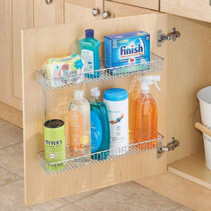 Shop for interdesign classico metal 2 tier shelf under sink organizer for kitchen bathroom cabinets 16 75 x 4 25 x 13 chrome