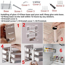 Load image into Gallery viewer, Select nice ming hong tang 180 rotatable stainless steel kitchen storage collecter for seasoning no drill to install detachable to wash