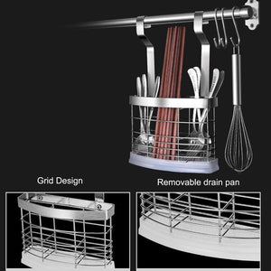 Kitchen 304 stainless steel kitchen shelves wall hanging turret 3 layer spice jars organizer foldable dish drying rack kitchen utensils holder