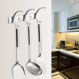 Try dreamsbaku wall mounted coat hooks rail robe towel racks 5 tri hooks for kitchen bedroom stainless steel