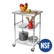 Load image into Gallery viewer, Order now seville classics stainless steel nsf certified professional kitchen work table cart 24 w x 20 d x 36 h