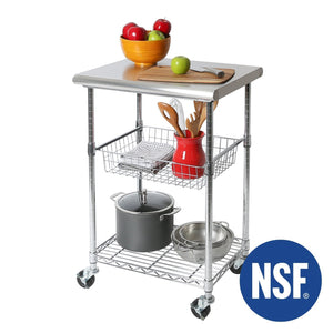 Order now seville classics stainless steel nsf certified professional kitchen work table cart 24 w x 20 d x 36 h