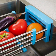 Load image into Gallery viewer, Online shopping yan junau kitchen racks stainless steel retractable sink drain rack dish rack kitchen supplies color blue