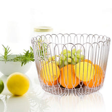 Load image into Gallery viewer, New fruit basket bowl stainless steel large wire fruit storage basket with bread for kitchen counter lanejoy